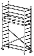 Alu-FahrGerüst - Arbeitshöhe bis 4.30 x 2.30 x 3.30 m - ProTec System