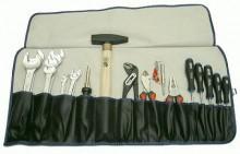 Werkzeugsortiment in Rolltasche 28-teilig