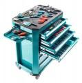 Werkstattwagen gefüllt mit Werkzeugen-/Modulen