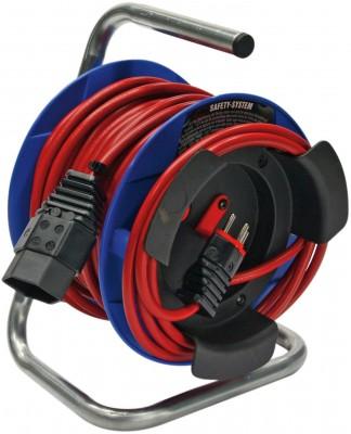 Kompakt Kabeltrommel G 180 - 15 m / 230 V / H05VV-F 3G1,0 - rot