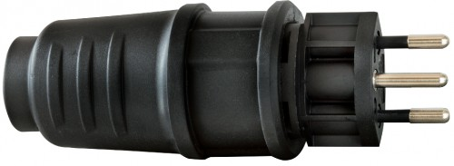 Schutzkontakt-Stecker T 12 IP 54, 3 Pole / 230 V / 10 A - VE= 5 Stück
