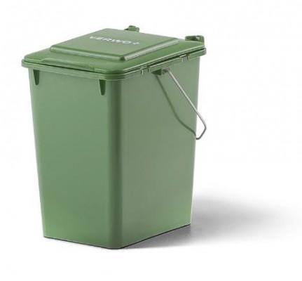 10 Liter Kunststoffbehälter mit Deckel und Tragegriff - Grün