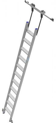 Stabilo® Professional Stufen-Regalleiter Rundrohr-Schienenanlage - Arbeitshöhe 3.85 m - 1 x 11 Stufen