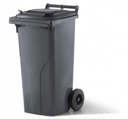 120 Liter Kunststoffbehälter mit Deckel - Anthrazit