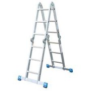 Sprossen-Gelenk-Universalleiter - 4x3 Sprossen STABILO® Professional