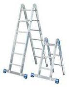 Sprossen-Gelenkleiter Combileiter - STABILO® Professional - 2x3 + 2x6 Sprossen