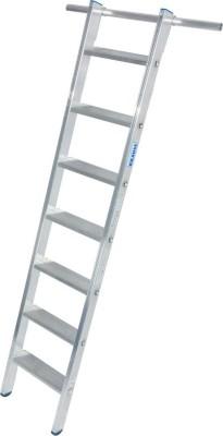 STABILO Stufen-RegalLeiter einhängbar mit 1 Paar Einhängehaken 1x7 Stufen