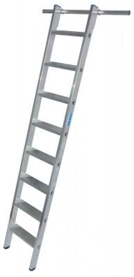STABILO Stufen-RegalLeiter einhängbar mit 1 Paar Einhängehaken 1x8 Stufen