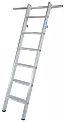 STABILO Stufen-RegalLeiter einhängbar mit 2 Paar Einhängehaken 1x6 Stufen