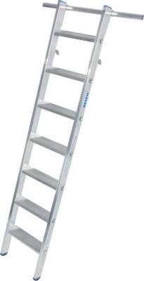 STABILO Stufen-RegalLeiter einhängbar mit 2 Paar Einhängehaken 1x7 Stufen