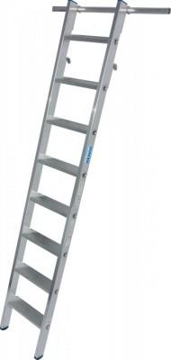 STABILO Stufen-RegalLeiter einhängbar mit 2 Paar Einhängehaken 1x8 Stufen