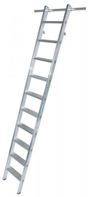 STABILO Stufen-RegalLeiter einhängbar mit 2 Paar Einhängehaken 1x10 Stufen