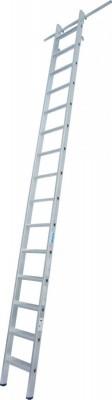 STABILO Stufen-RegalLeiter einhängbar mit 2 Paar Einhängehaken 1x15 Stufen