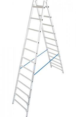 Stabilo® Professional Sprossen-Doppel-Leiter - Aluminium - Arbeitshöhe 4.60 m - 2 x 12 Sprossen