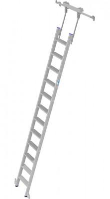 Stabilo® Professional Stufen-Regalleiter Rundrohr-Schienenanlage - Arbeitshöhe 4.10 m - 1 x 12 Stufen