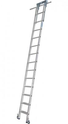 Stabilo® Professional Stufen-Regalleiter Rundrohr-Schienenanlage - Arbeitshöhe 4.30 m - 1 x 13 Stufen