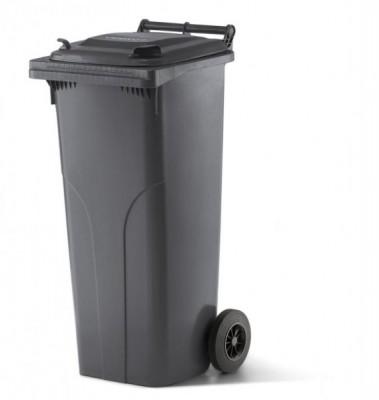 140 Liter Kunststoffbehälter mit Deckel - Anthrazit