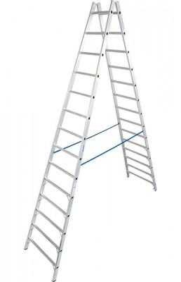 Stabilo® Professional Sprossen-Doppel-Leiter - Aluminium - Arbeitshöhe 5.10 m - 2 x 14 Sprossen