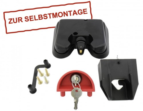 Automatik-Kippschloss für Kunststoffbehälter inkl. 2 Schlüssel - lose geliefert