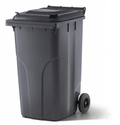 240 Liter Kunststoffbehälter mit Deckel - Anthrazit