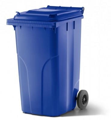 240 Liter Kunststoffbehälter mit Deckel - Blau