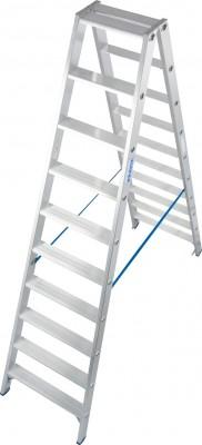 Stabilo® Professional Stufen-Doppelleiter, Aluminium 2 x 10 Stufen