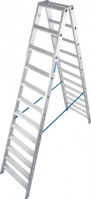 Stabilo® Professional Stufen-Doppelleiter, Aluminium 2 x 12 Stufen