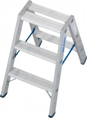 Stabilo® Professional Stufen-Doppelleiter, Aluminium 2 x 3 Stufen