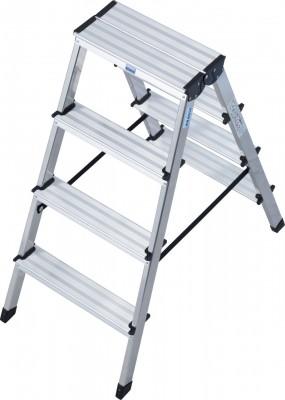 Monto® Stufen-Doppelleiter Dopplo®, Aluminium vernietet, 2 x 4 Stufen