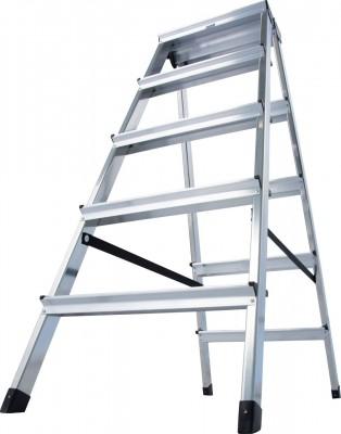 Monto® Stufen-Doppelleiter Dopplo®, Aluminium vernietet, 2 x 5 Stufen