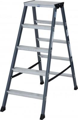 Monto® Stufen-Doppelleiter eloxiert 2 x 5 Stufen, SePro D®
