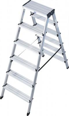 Monto® Stufen-Doppelleiter Dopplo®, Aluminium vernietet, 2 x 6 Stufen