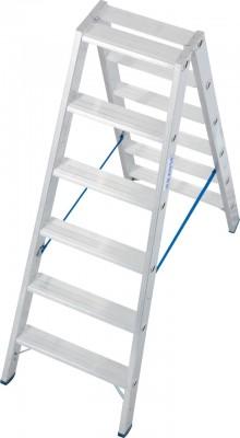 Stabilo® Professional Stufen-Doppelleiter, Aluminium 2 x 6 Stufen