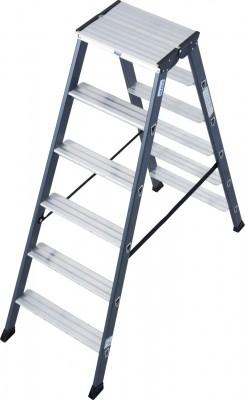 Monto® Stufen-Doppelleiter eloxiert 2 x 6 Stufen, SePro D®