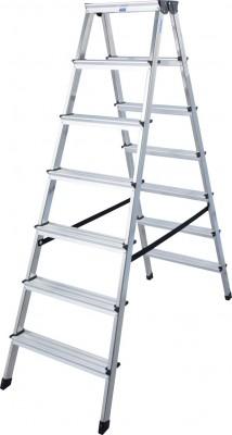 Monto® Stufen-Doppelleiter Dopplo®, Aluminium vernietet, 2 x 7 Stufen