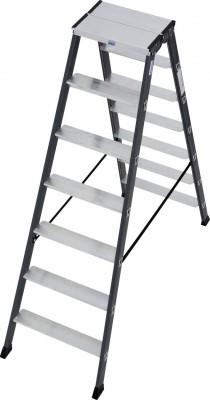Monto® Stufen-Doppelleiter eloxiert 2 x 7 Stufen, SePro D®