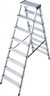 Monto® Stufen-Doppelleiter Dopplo®, Aluminium vernietet, 2 x 8 Stufen