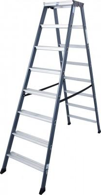 Monto® Stufen-Doppelleiter eloxiert 2 x 8 Stufen, SePro D®