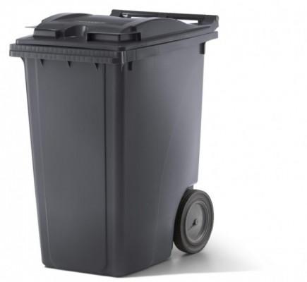 360 Liter Kunststoffbehälter mit Deckel - Anthrazit