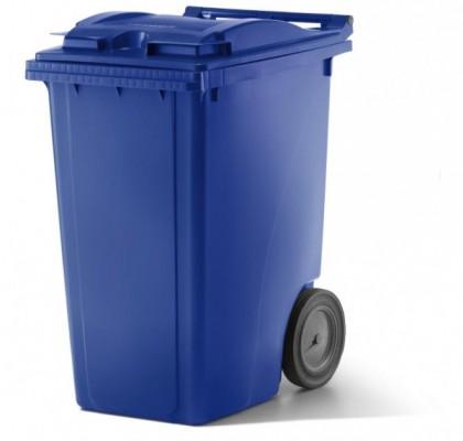 360 Liter Kunststoffbehälter mit Deckel - Blau