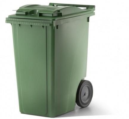 360 Liter Kunststoffbehälter mit Deckel - Grün
