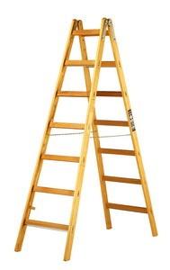 Brennenstuhl Holz-Stehleiter 2 x 7 Sprossen