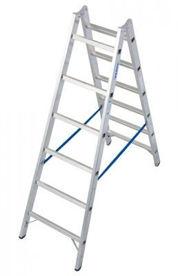 Stabilo® Professional Sprossen-Doppel-Leiter - Aluminium - Arbeitshöhe 3.05 m - 2 x 6 Sprossen