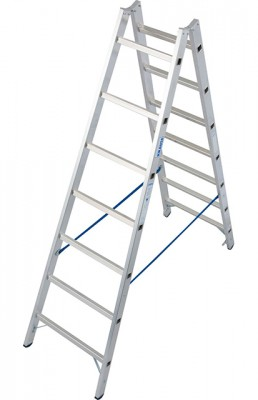 Stabilo® Professional Sprossen-Doppel-Leiter - Aluminium - Arbeitshöhe 3.30 m - 2 x 7 Sprossen