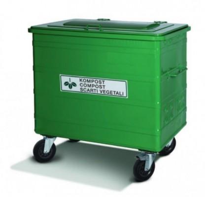 800 Liter Standard Stahlcontainer KOMPOST mit Belüftungsschlitzen