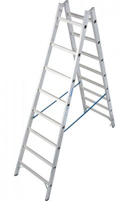 Stabilo® Professional Sprossen-Doppel-Leiter - Aluminium - Arbeitshöhe 3.55 m - 2 x 8 Sprossen