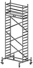 Alu-FahrGerüst - Arbeitshöhe bis 6.30 x 4.30 x 5.30 m - ProTec System