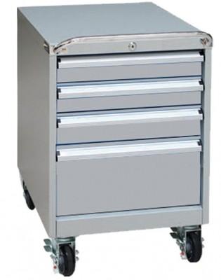 Unterschrank auf Rollen mit  4 Schubladen für Werkbank - 565x580x650 mm