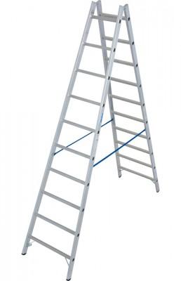 Stabilo® Professional Sprossen-Doppel-Leiter - Aluminium - Arbeitshöhe 4.10 m - 2 x 10 Sprossen