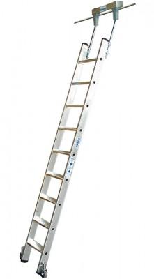 Stabilo® Professional Stufen-Regalleiter Rundrohr-Schienenanlage - Arbeitshöhe 3.40 m - 1 x 9 Stufen